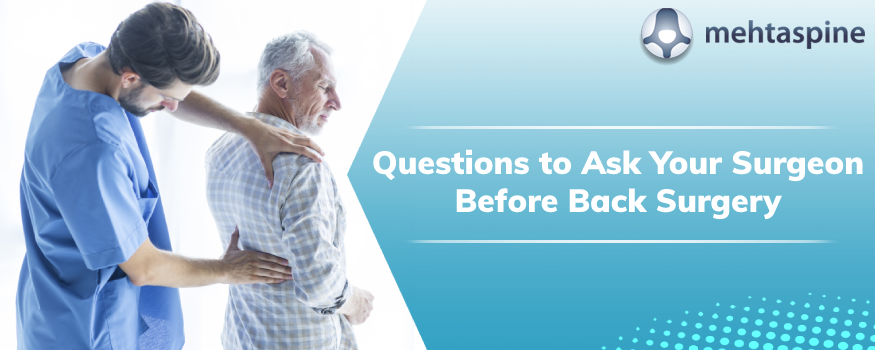 Questions about back pain surgery